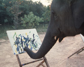 Elephant Painting Picture Hoax