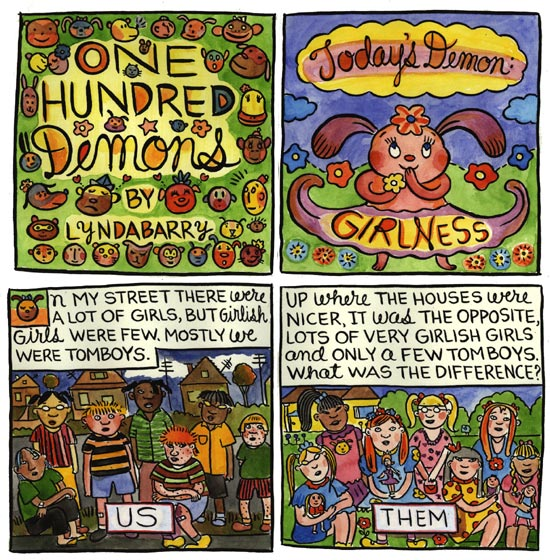 one hundred demons by lynda barry essay