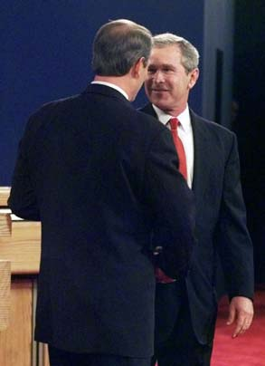 a report on the debate results of gore and bush Debate between the presidential candidates: al gore and george w bush st louis,  gov bush: hi,.