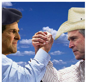 Bush and the GOP are trying to paint Kerry as a Euro-wimp and girlie man.