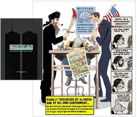 Image result for art spiegelman in the shadow of no towers