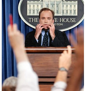 I invaded the White House press corps
