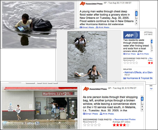 finding vs looting essay In august 2005, newspapers published images of african-americans looting goods, while white people doing the exact same thing were seen as finding supplies.