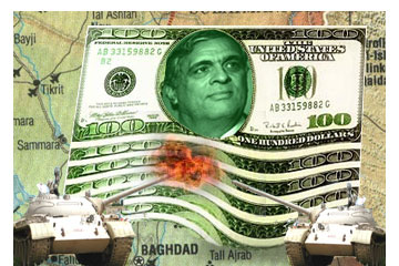 Graphic  of Tenet hundred dollar bills