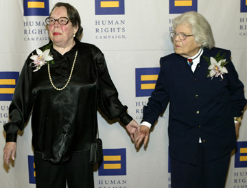 the marriage of Del Martin, 87, and Phyllis Lyon, 83, at San Francisco City Hall, 2008