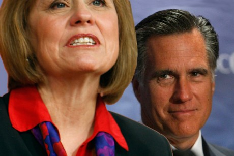 Mitt Romney sends Sharron Angle some love