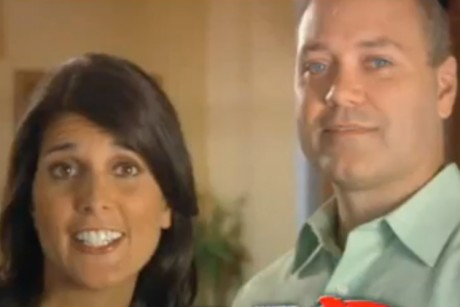 Nikki Haley places loving husband in ad