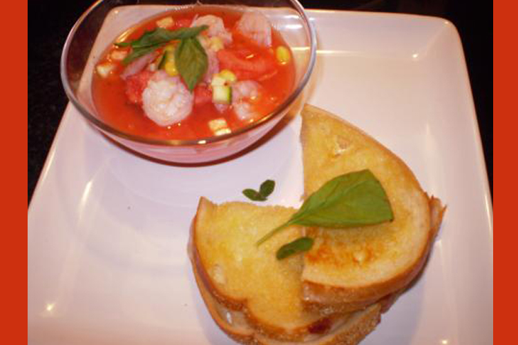 Chilled tomato-watermelon soup with shrimp - Salon.com