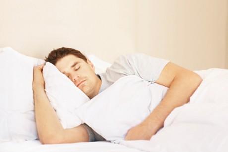 guy sleeping in bed *Note