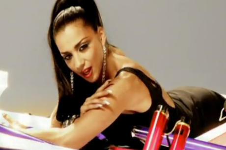Nadja Benaissa performs in a No Angels music video.