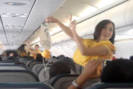 cebu airlines staff perform