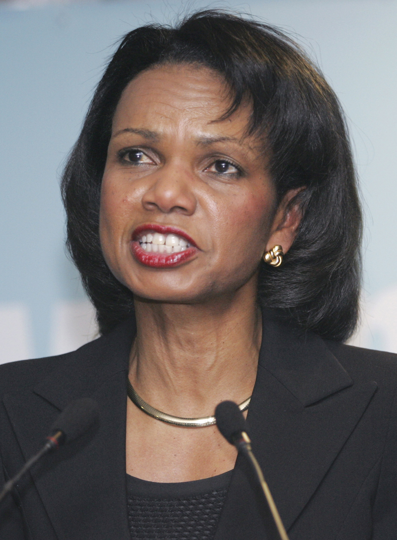 our accountability free political culture Condoleeza Rice recently departed secretary of State