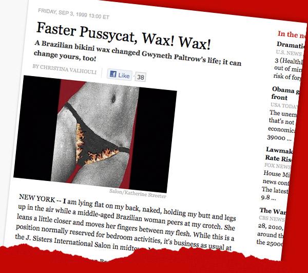 May one bikini brazilian story wax can