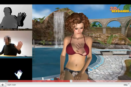 A preview of the first sex game for Microsoft's Kinect has hit the Web ...