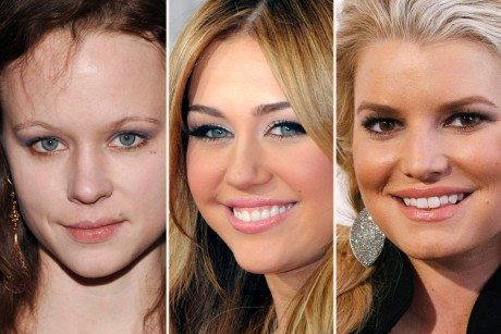 Thora Birch, Miley Cyrus and Jessica Simpson