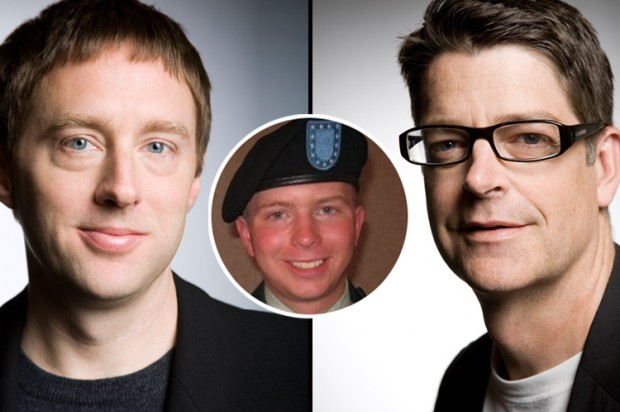 Kevin Poulsen (left), Evan Hansen (right) and Bradley Manning