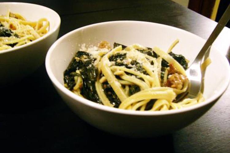 Beer-braised sausage and kale pasta recipe - Salon.com