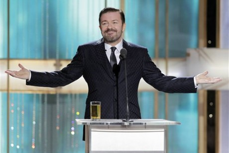 Gervais stands his ground over Globes performance