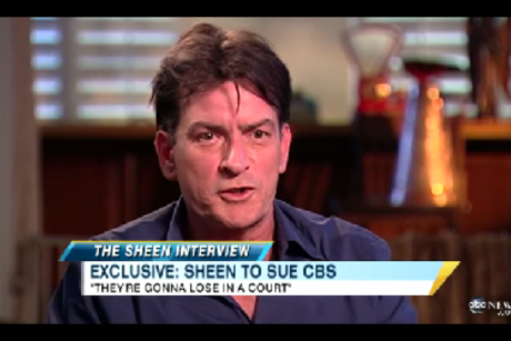 Charlie Sheen did the rounds this weekend, sitting down for interviews with ...