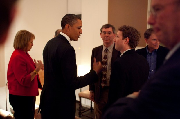 Look at Barack Obama, Mark Zuckerberg and Steve Jobs hanging out