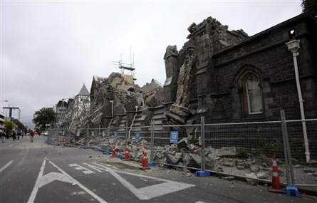 A Building In Christchurch New Zealand Is Destroyed After An Earthquake Struck Tuesday Ap Pam Johnson