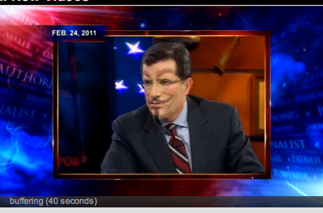 Did Anonymous hack Colbert?