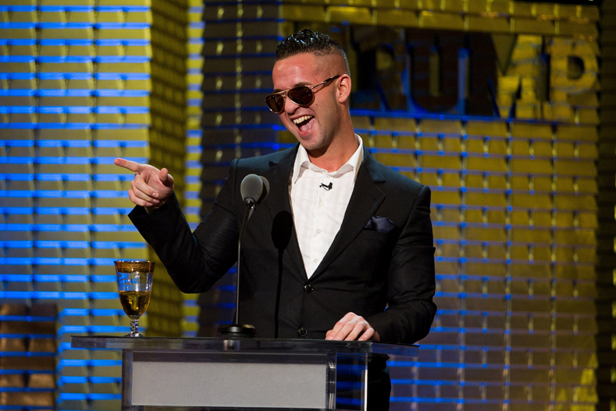 Sorrentino appears onstage at the Comedy Central Roast of Donald Trump ...