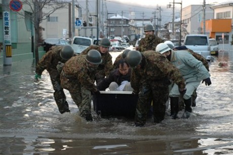 Woman, 70, found alive 4 days after Japan tsunami In this Saturday March 12, ...