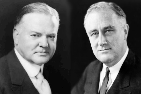 hoover and roosevelt At the time franklin delano roosevelt and herbert hoover were seen as giants in the public life franklin delano roosevelt and herbert hoover were both tall.