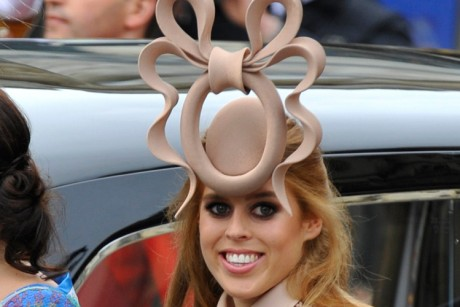 This kind of hat is called a fascinator, for obvious reasons.