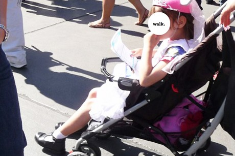 Why do we hate seeing big kids in strollers?