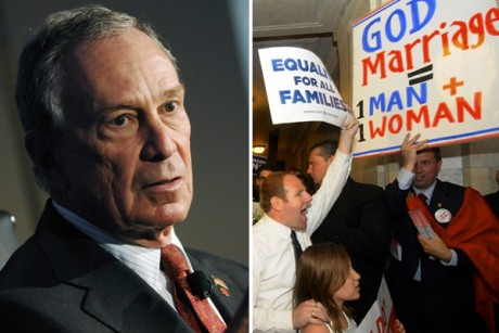 If gay marriage fails in New York, Mayor Bloomberg's money is partly to ...