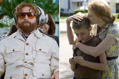 "Stills from ""Hangover II"" and ""The Tree of Life"""