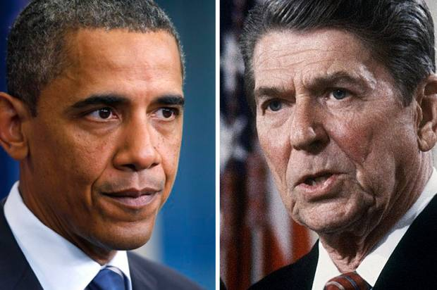Obama gets to play Ronald Reagan