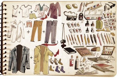 Adolf Konrad's graphic packing list, Dec. 16, 1973