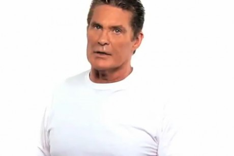 David Hasselhoff for the NOH8 Campaign, protesting the ban on gay marriage