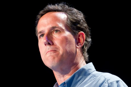 Rick Santorum's last name is also a word for a byproduct of anal sex.