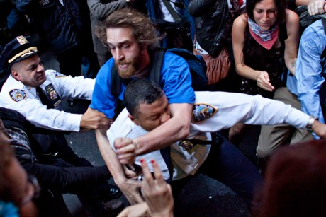 Occupy Wall Street's struggle for nonviolence