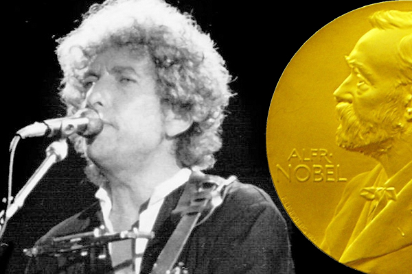 Image result for bob dylan nobel prize
