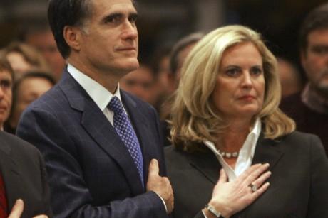 Mitt Romney with his wife Ann Romney