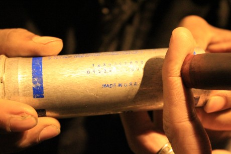Made in USA teargas cannister