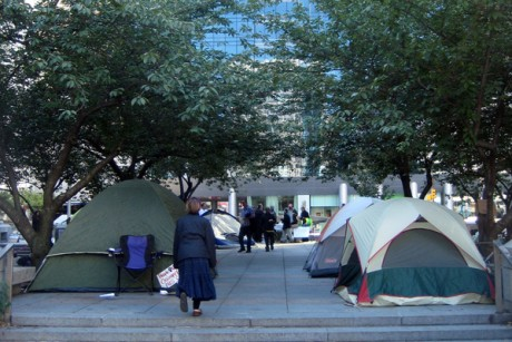 Occupy Philadelphia tis hreatened with eviction.