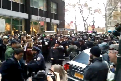 OWS scuffle
