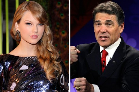 Taylor Swift and Rick Perry