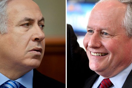 Israel's Prime Minister Benjamin Netanyahu and neonconservative William Kristol