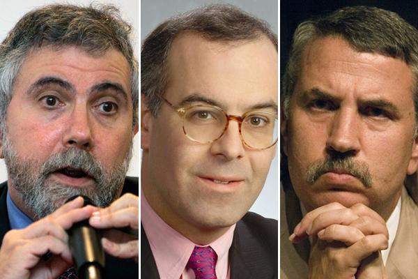 Image result for friedman krugman brooks