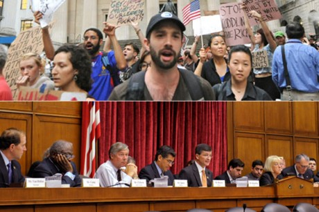 Occupy Wall Street Protesters, top, and the Joint Select Committee on Deficit Reduction