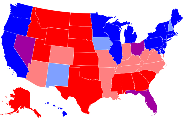 Red-state blue-state divide is showing up in tourism ... on architecture of alabama, school of alabama, education of alabama, hate of alabama,