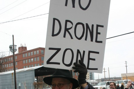 In Iowa, occupiers picket a drone factory