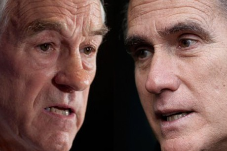 Romney Vs Paul: Experts Agree GOP Contest Now A Two Horse Race paul romney 460x307